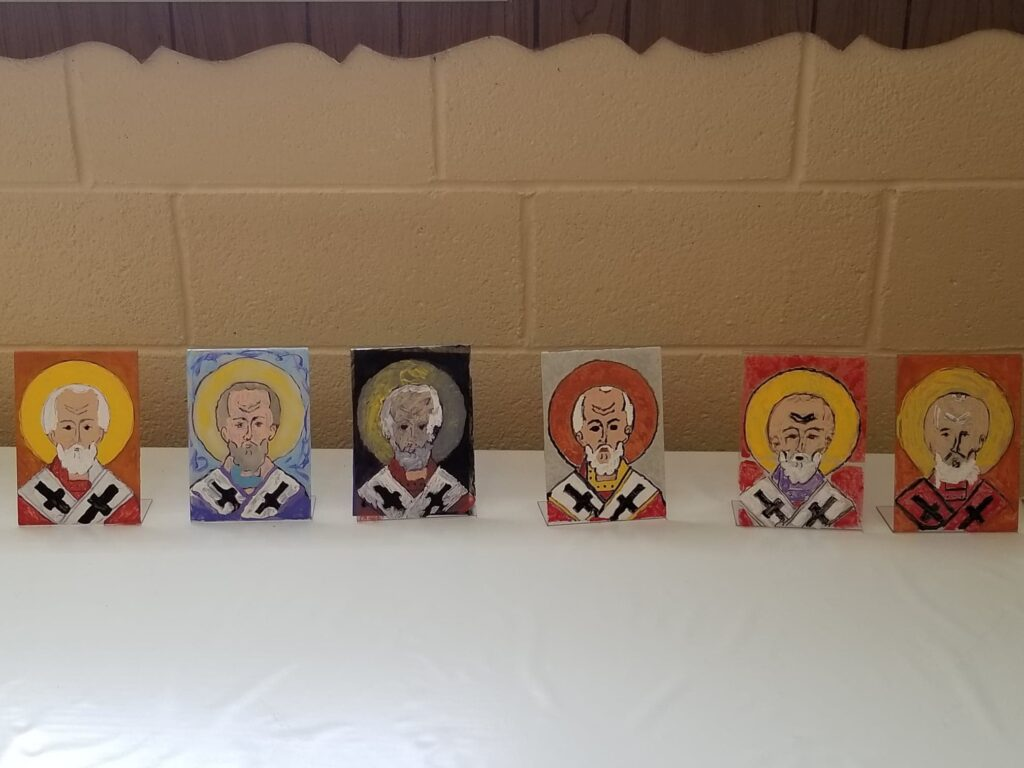 Acrylic Icons painted by students - St. Mary's Orthodox Church