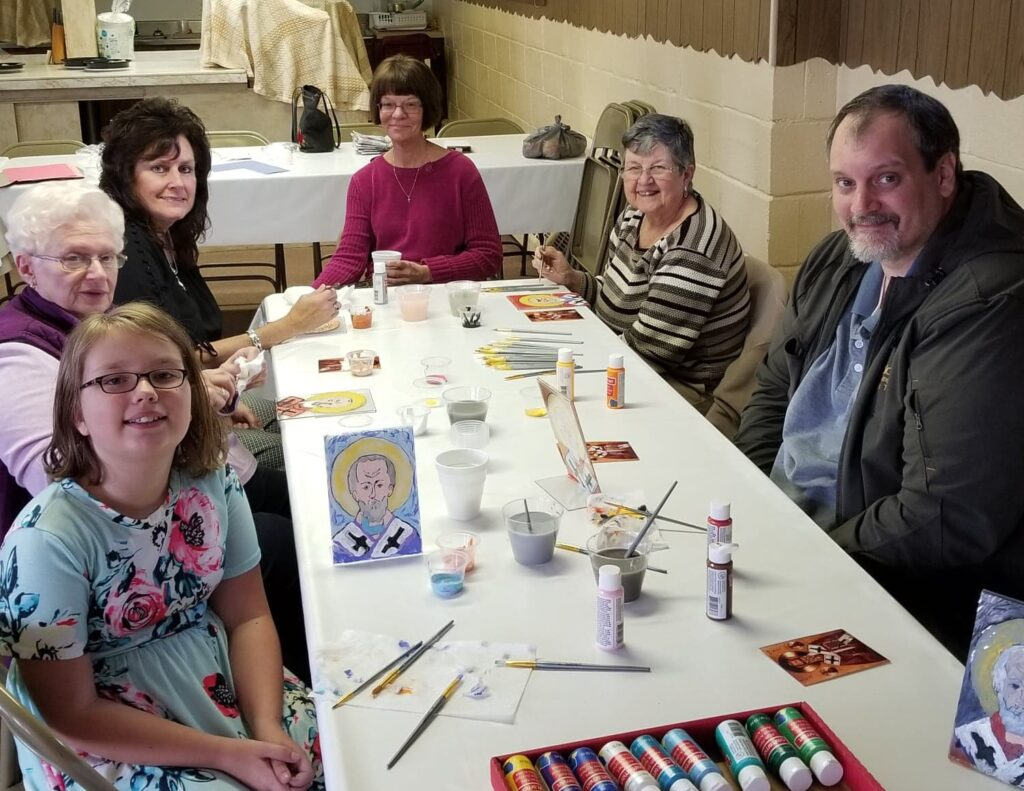 Icon Painting Class in Our Parish - St. Marys Orthodox Church