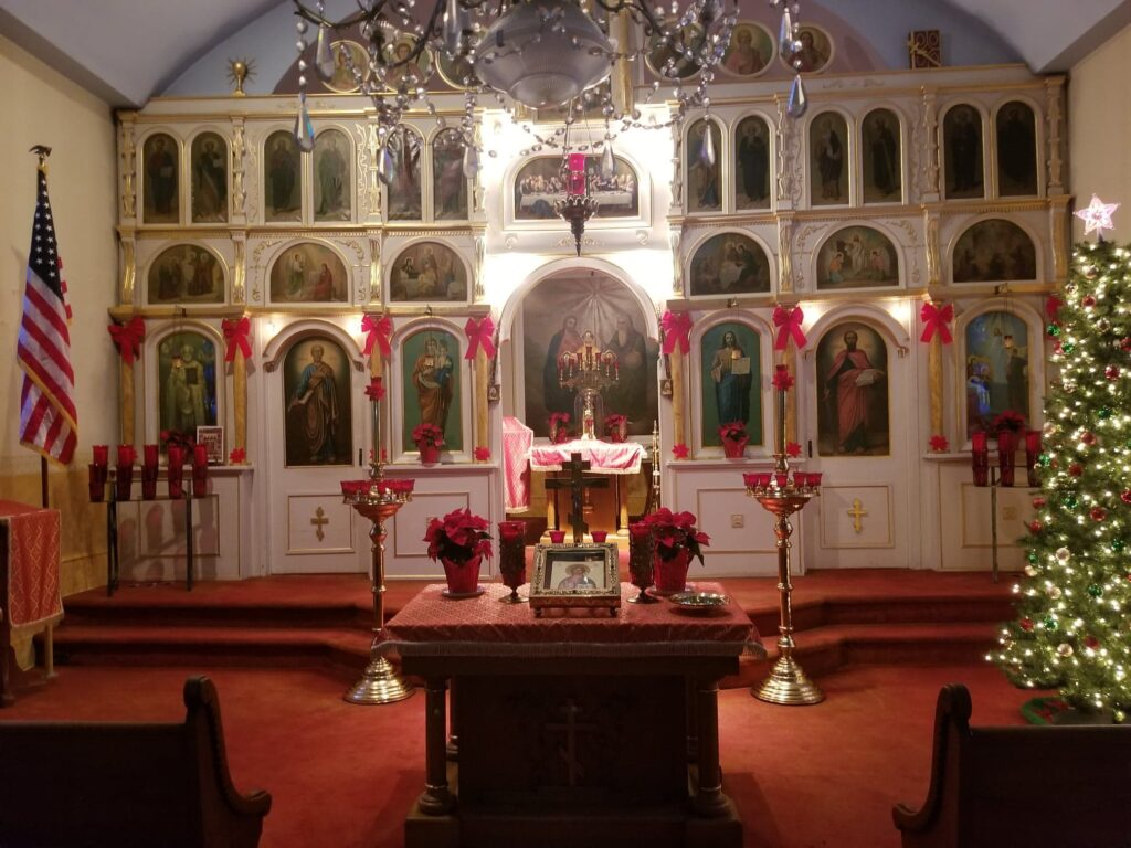 St. Marys Orthodox Church decorated for Nativity