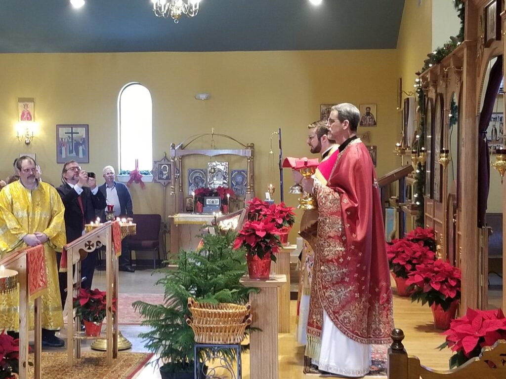 Communion at Holy Apostles Church in Mechanicsburg, PA.